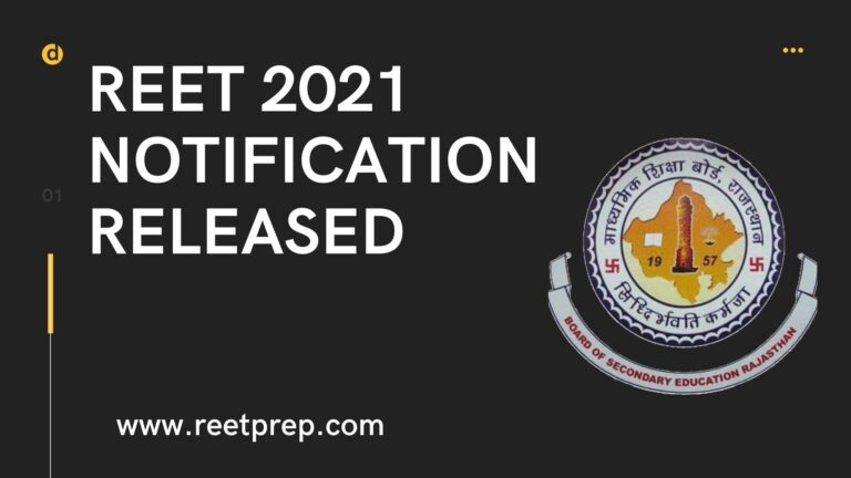 REET 2021 Notification Released