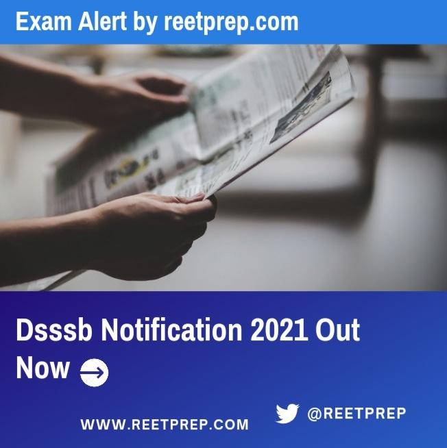 DSSSB Vacancy Notification PDF