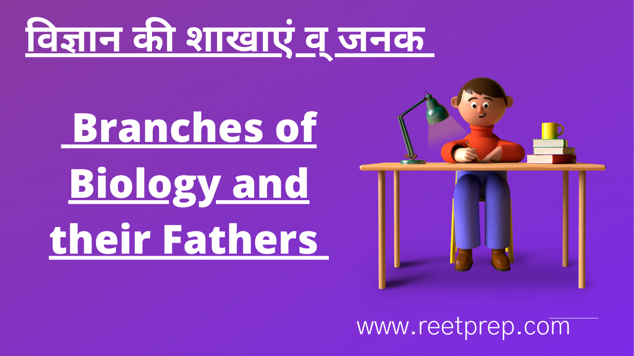 Branches of Biology and their Fathers