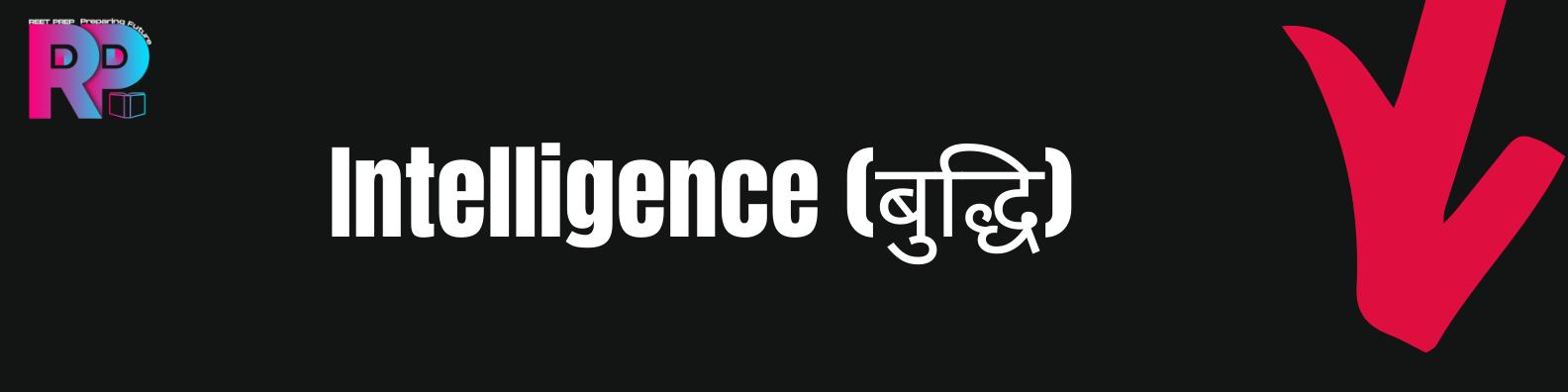 Intelligence(बुद्धि)